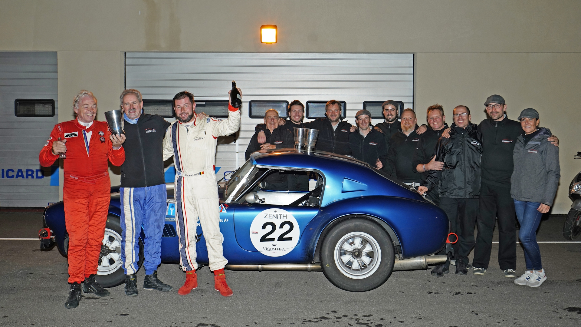 Gipimotor crowned Peter Auto Sixties' Endurance champions at Dix Mille Tours du Castellet. · Gipimotor